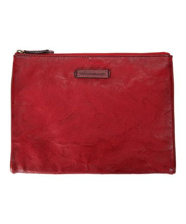 Loving this Burnt Red Michelle Leather Tech Clutch on #zulily! #zulilyfinds