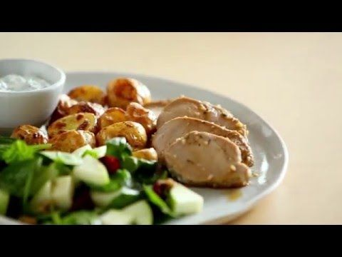Marinated Pork and Potatoes with Cucumber Summer Salad | Publix Simple Meals