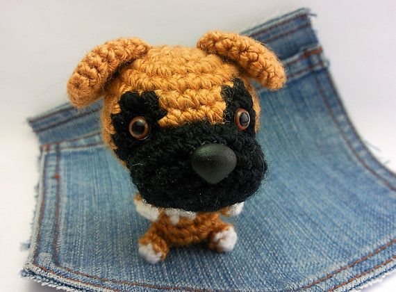 Amigurumi Boxer, crochet Boxer, Dog plushie. Stuffed dog ...