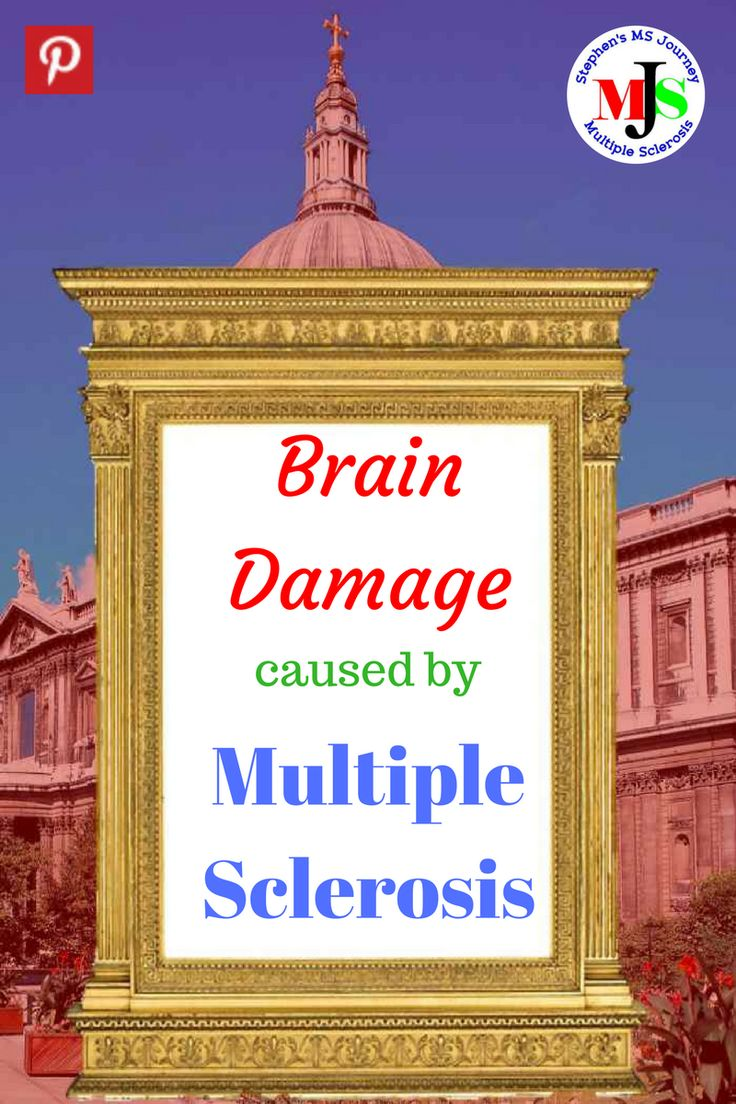 Brain damage caused by multiple sclerosis lesions and cognitive dysfunction