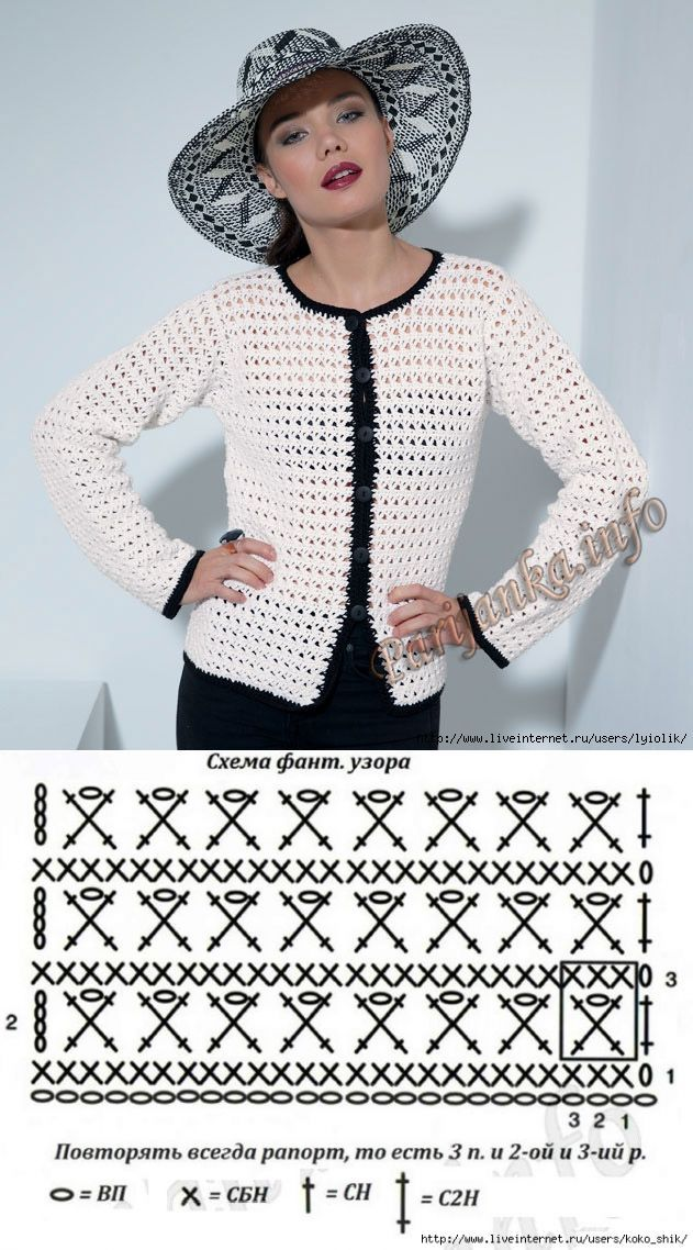 "Crochet jacket in Chanel style with the website ""Parisienne"""