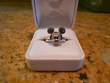14k Diamond Mickey Mouse Disney Ring