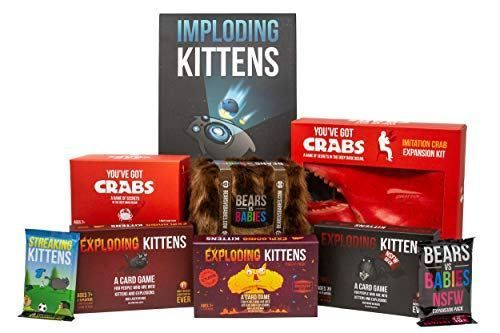 Exploding Kittens A Card Game About Kittens And Explosions And Sometimes Goats Exploding Kittens Card Game Exploding Kittens Card Games