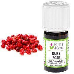 huile essentielle baies rose ou faux poivrier (bio)
