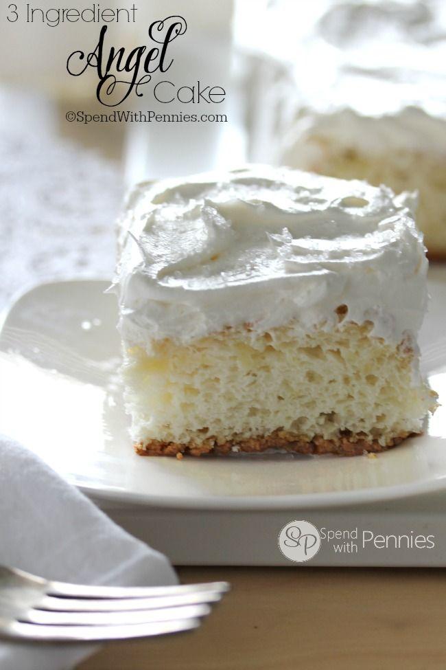 3 Ingredient Pineapple Angel Food Cake | Spend With Pennies