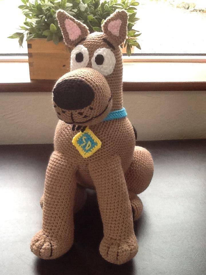 Handmade Scooby Doo Doll. Buy him here - https://www.facebook.com/CBKnits