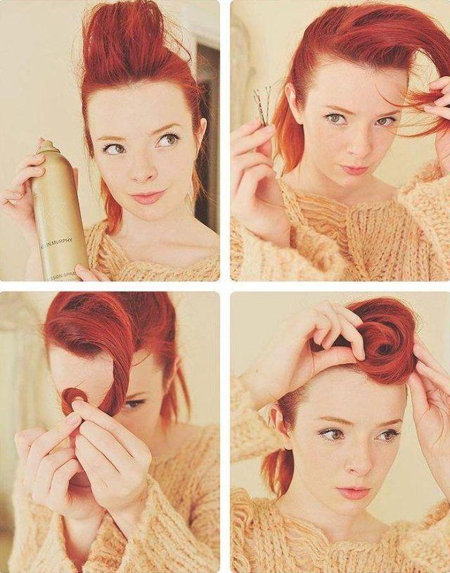 coiffure pin up: comment se faire une frange en suicide roll