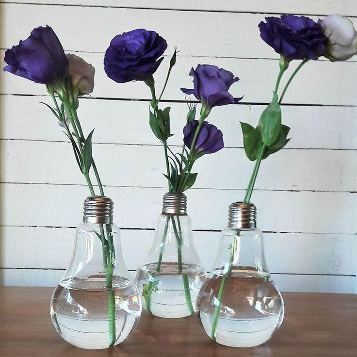 Un clasico de nuestra tienda, los floreros ampolleta. Son lindos, entretenidos y lo mejor...con una flor ya tienes decorado el espacio! En nuestra tienda online www.labellezadelascosas.cl