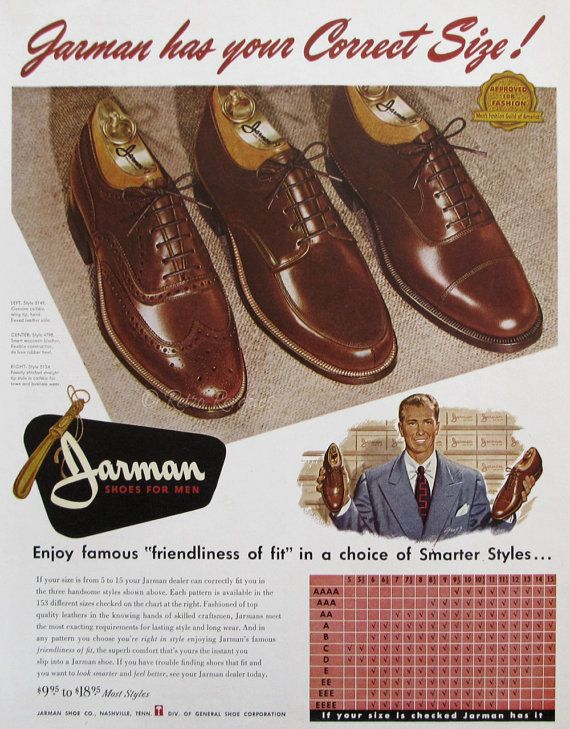 1951 Jarman Shoes Advertisement - 1950s Mens Fashion - Leather Loafers for Men - Mid Century America - Vintage Print Ads - Gugg Illustration