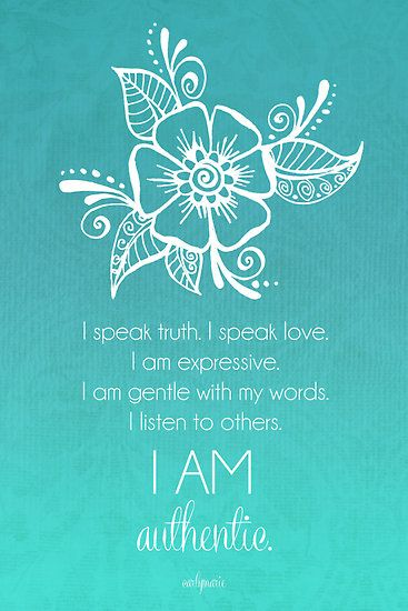 Throat Chakra Affirmation by CarlyMarie                                                                                                                                                      More