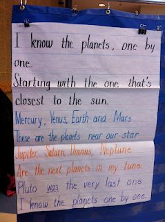 Solar system poem..Pluto was a planet, sadly demoted