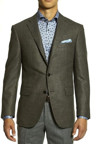 Corneliani Men's Mini Check Sport Coat | The Helm Clothing | Edmonton, AB