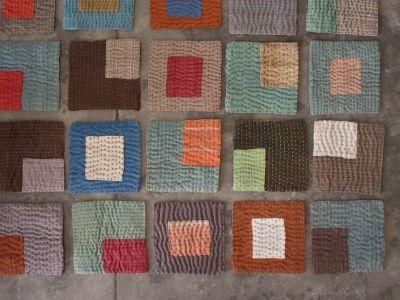 coasters made using various woven fabrics,  - ganga studio