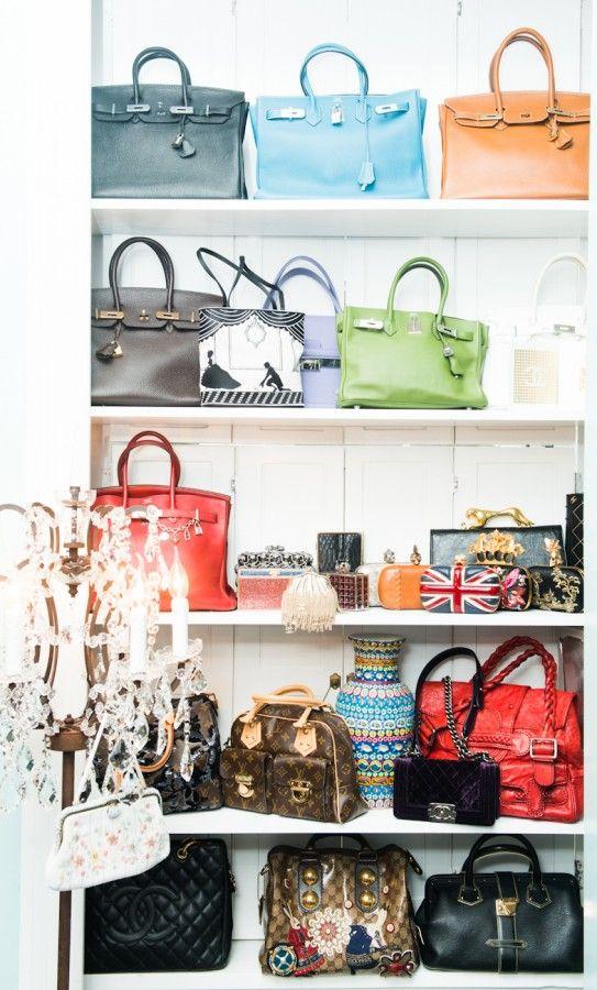 ac3759e4f58 Such a dream closet filled with Hermès Birkins