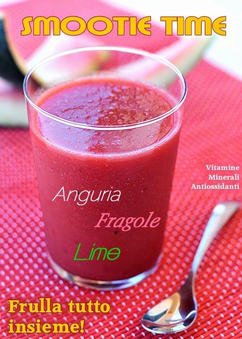 Frullato di melone, fragole e lime