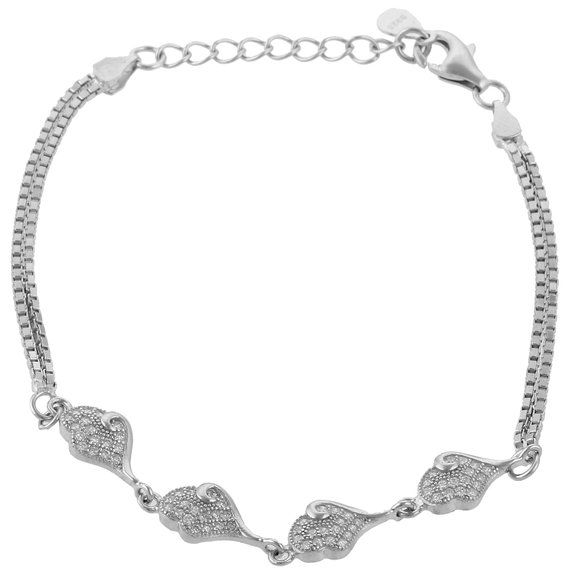 Define Jewellery Silver American Diamond bracelet for Women (DFBC0021)