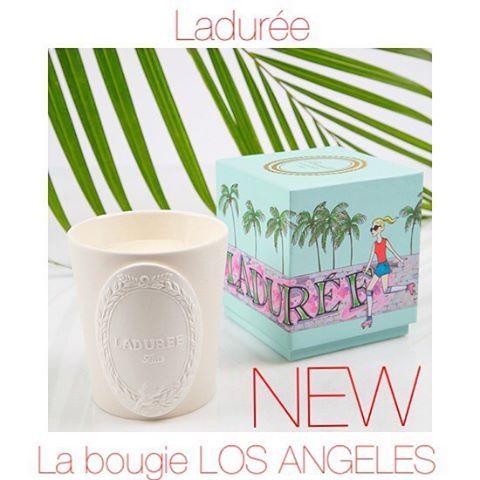 """La collection """"Ville porte-bonheur """" s'agrandit avec la nouvelle bougie LOS ANGELES Ladurée au doux parfum exquis d'été : Monoï - Fleur de tiaré !!! Venez vite la découvrir en exclusivité à Nantes et à la petite baignoire !!!🌴🌴🌴 #lapetitebaignoire..."""
