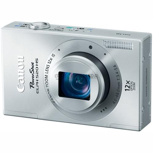 Canon PowerShot ELPH 520 HS Silver 10.1 MP CMOS Digital Camera 12x Optical Zoom
