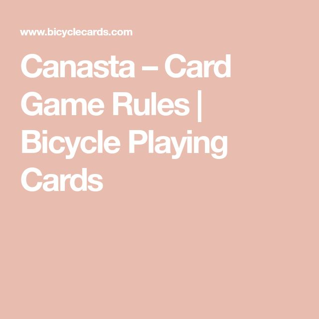 Canasta – Card Game Rules