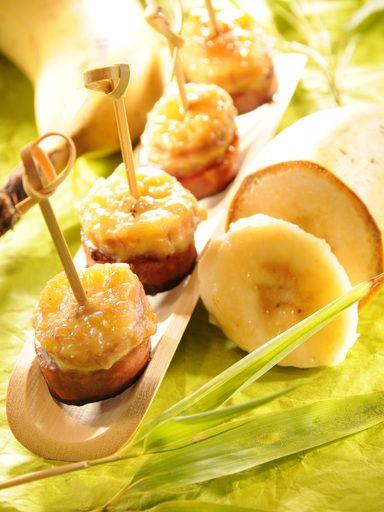Apéritif rapide chorizo-banane - Recette de cuisine Marmiton : une recette
