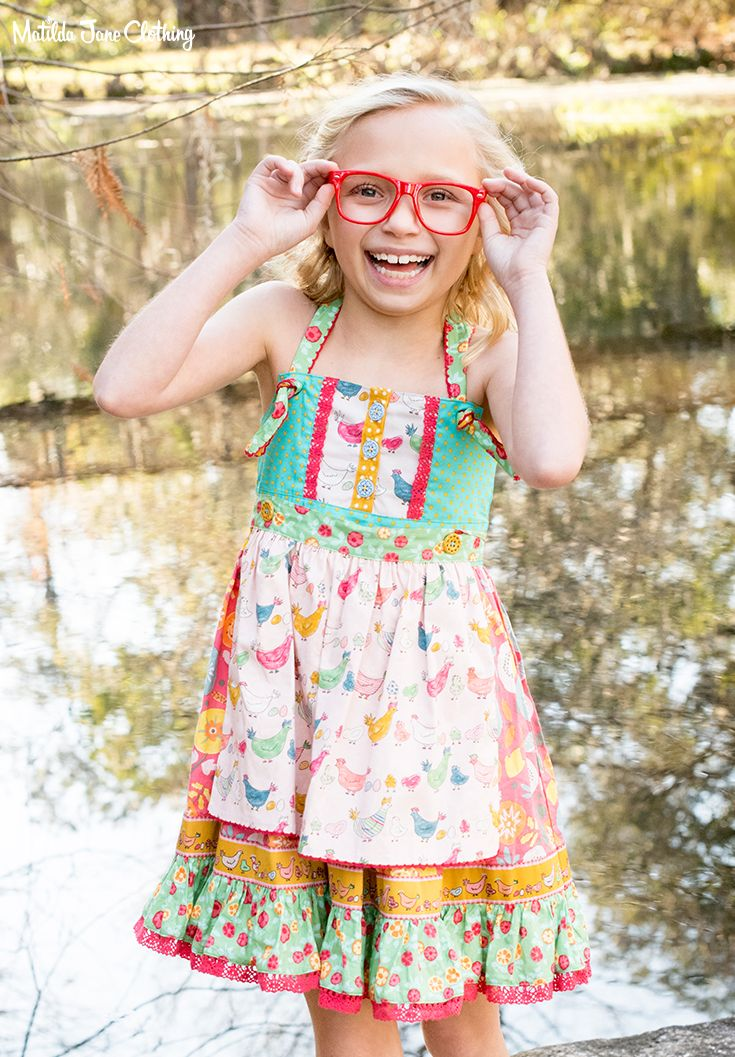 8ad021fb35558 Camp MJC; Spring 2018; To The Birds Dress. The adorable chicken print on  this knot dress is so cute! The reversible and removable apron allows for  three ...