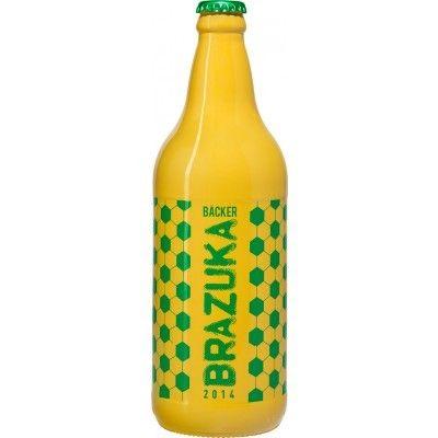 Cerveja Backer Brazuka, estilo Bohemian Pilsener, produzida por Cervejaria Backer, Brasil. 4.7% ABV de álcool.