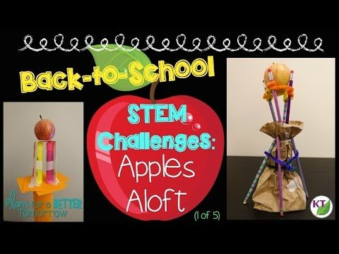 Back-to-School STEM Challenges: Apples Aloft (1 of 5) Video outlines an easy-to-implement STEM Challenge with modifications for grades 2 - 8.