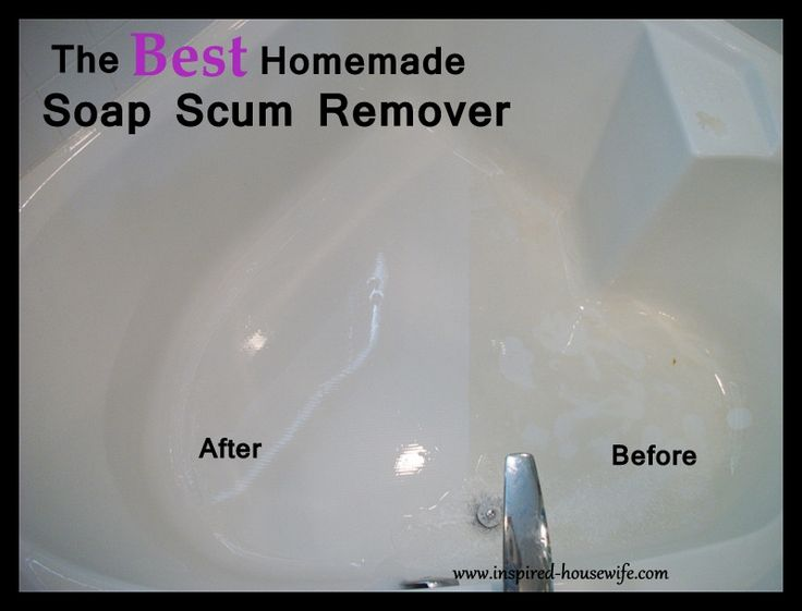 Inspired Housewife: The Best Bathroom Homemade Cleaner Scum Remover