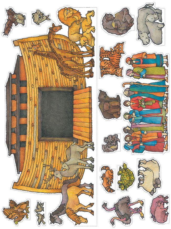 Arca de Noé y animales para imprimir