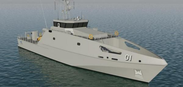 Austal lays keel for first of 19 Pacific Patrol Boats, which Australia is donating to Pacific island nations.