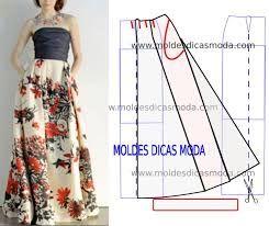 Resultado de imagen para moldes faldas largas