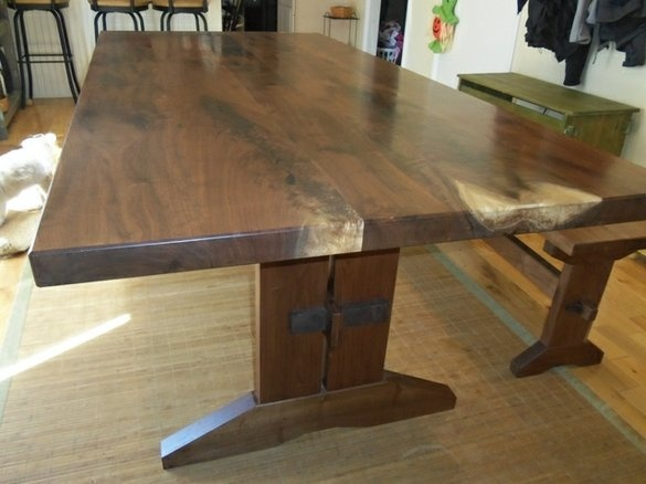 Walnut Crotch Dining Room Table by Michael Olczak Design