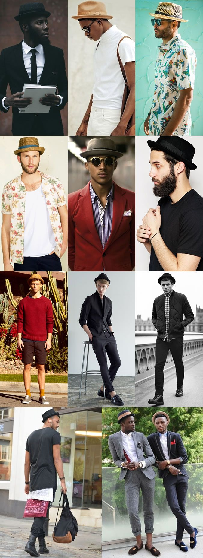 Men's Pork Pie Hat Outfit Inspiration Lookbook