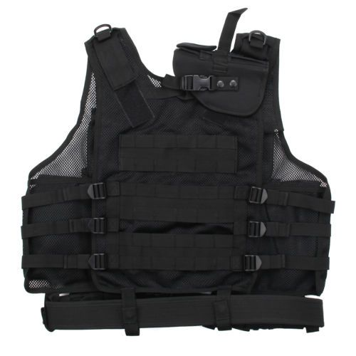 Adjustable #black tactical vest / #combat assault airsoft army molle #attachment,  View more on the LINK: http://www.zeppy.io/product/gb/2/391578349884/