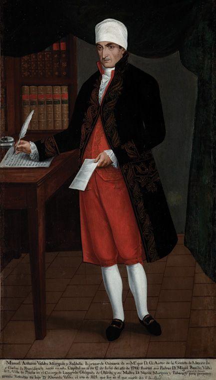 Ignacio Ayala, Retrato de don Antonio Valdéz-Murguía y Saldaña, óleo sobre tela, sin medidas, ca. 1814, colección: Museo Nacional del Virreinato, catalogación: Juan Carlos Cancino.