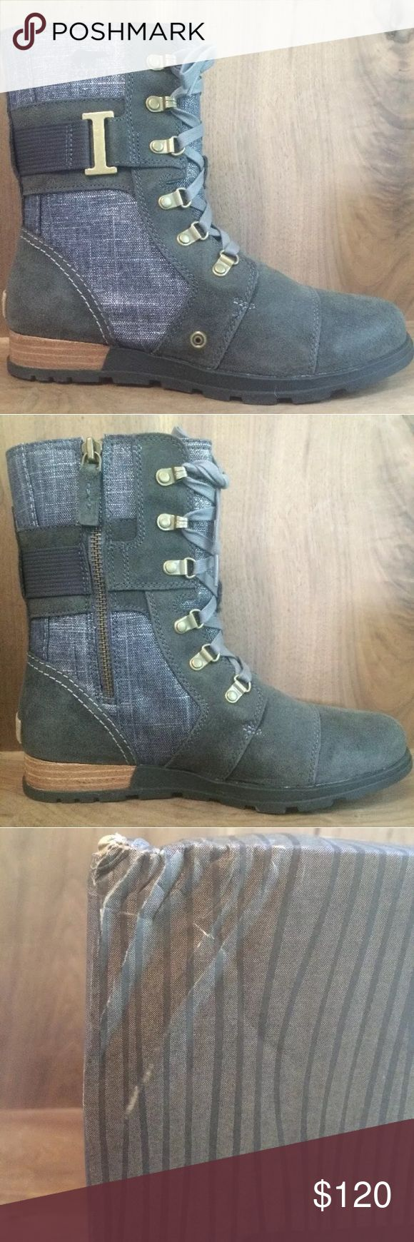 Sorry Major Carly Lace Up Boots Graphite 8.5 Sorel New in Box Major Carly Graphite/Shark Women's Military Boots size 8.5. Please look at reviews for the sizing on these boots to make sure you get the correct size. They have lace up details and an inside zip to make them easy to get on. Super cute boots! Light wear to box. Shoes unworn. ♦️No trades♦️ Sorel Shoes Lace Up Boots