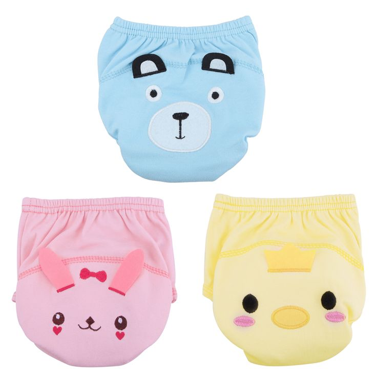 3 Colors Washable Adjustable Baby Nappies Infants Reusable Nappy Changing Training Pants for 80-100cm Baby FCI#