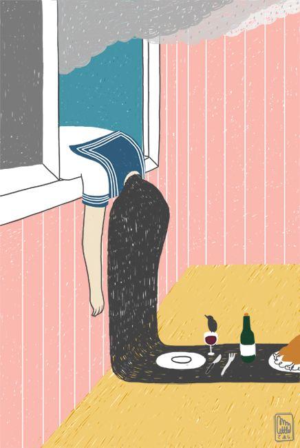 American Illustration 32 by Gizem Vural, via Behance