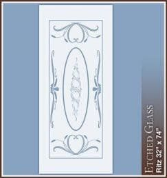 """Ritz 32"""" x 74"""" Clear Etched Glass Window FilmEtched Glass, Glasses Windows, Etchings Glasses"""