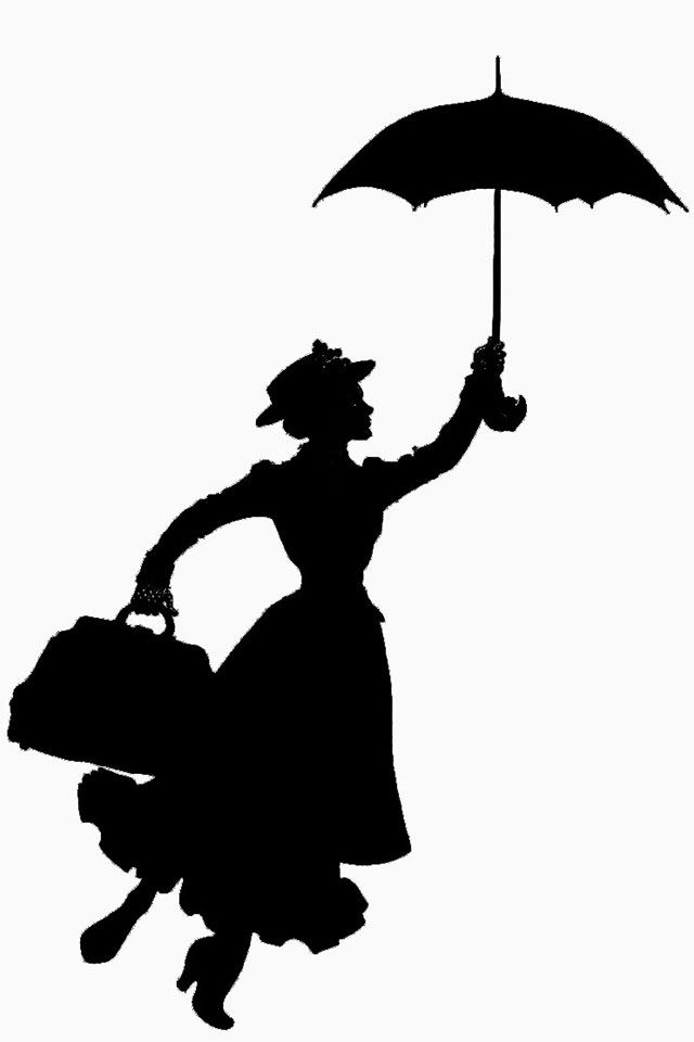 Mary poppins   Mary poppins, Mary poppins silhouette ...
