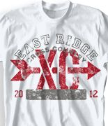 cool cross country shirt designs
