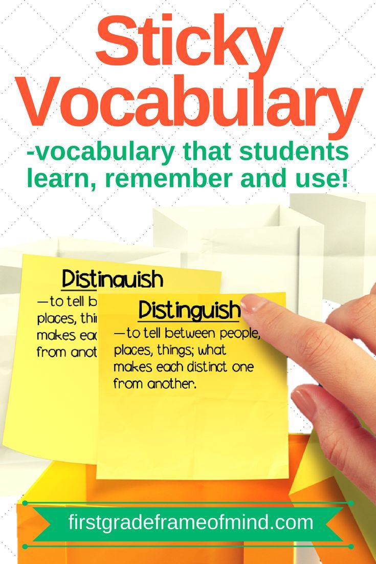 """""""Sticky vocabulary"""" is making vocabulary stick with students beyond the test. It's in the revisiting and reviewing of the words on a regular basis that is a critical piece missing at times. There is nothing wrong with testing at the end of the week, but i"""