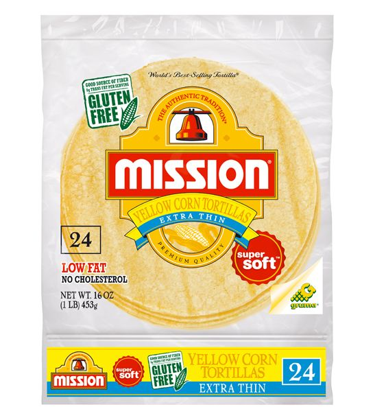 Mission Extra Thin Yellow Corn 24ct (3 tortillas = 10 mg sodium)