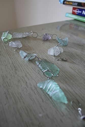 Sea Glass Necklace using Wire Wrapping - tutorial