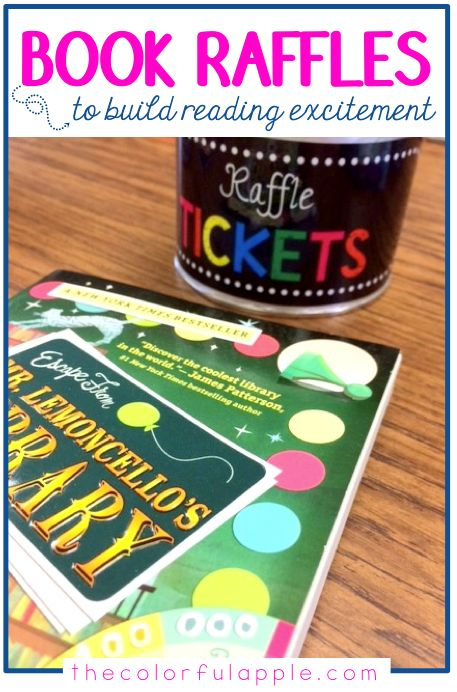 Such a fun way to build reading excitement in the elementary classroom! Organize a book raffle for students to be the first one to borrow the book from the classroom library. Free book raffle ticket template included.