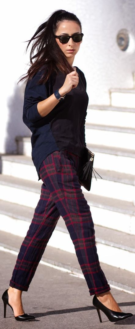 Tartan love. Perfect work outfit.