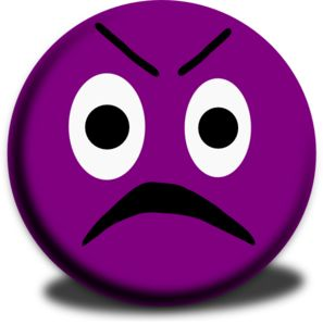 Purple Emoticon Clip Art | Angry Emoticon clip art - vector clip art online, royalty free ...