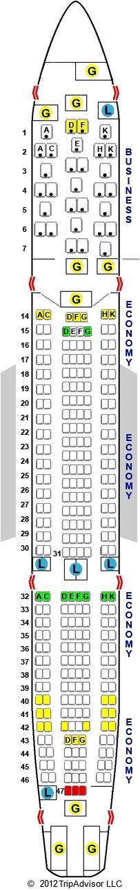 SeatGuru Seat Map Brussels Airlines Airbus A330-300