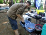 More ways to wash dishes while camping