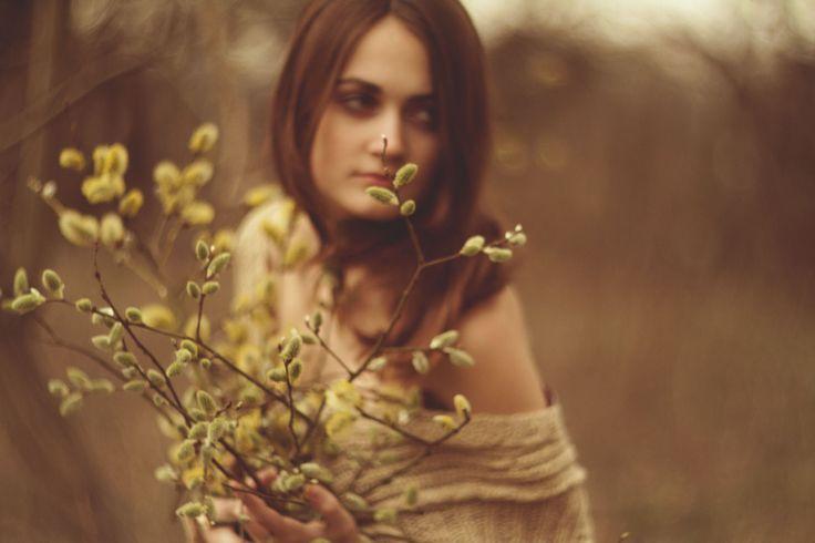 Девушка, весна, верба обои, картинки, фото